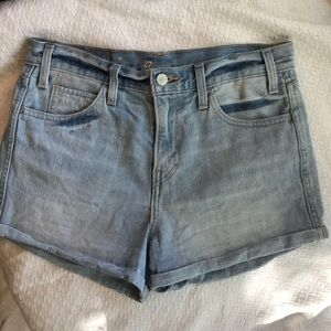Levi's original denim shorts